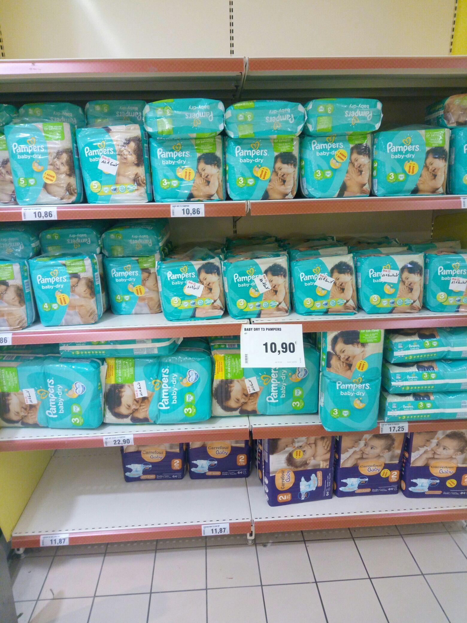 Sélection de produits Pampers en promo - Ex : Lot de 2  packs de 30 Couches Pampers taille 3