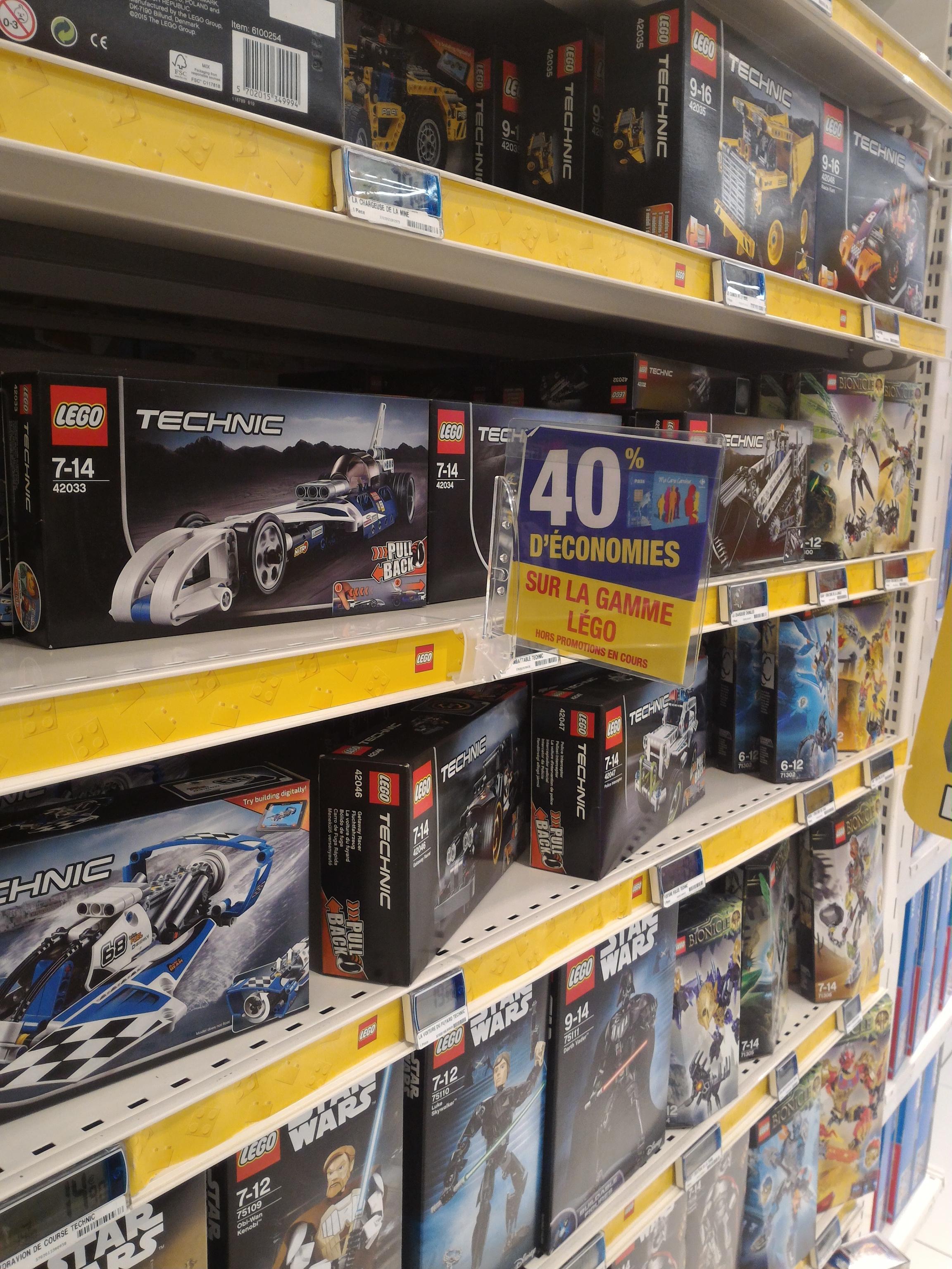 40% sur la carte fidélité sur tous les jeux de construction LEGO - Ex : Boite 42036 Moto Urbaine Lego Technic (avec 13.96€ sur la carte)