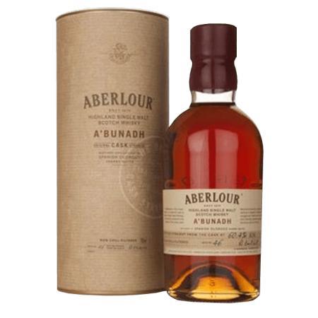 Lot de 4 bouteilles de Whisky Aberlour (12 +16 + 18 ans + A'bunadh)
