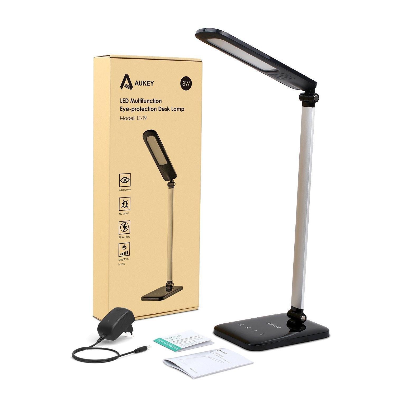 Lampe de lecture Aukey - 3 modes et 5 niveaux de la luminosité
