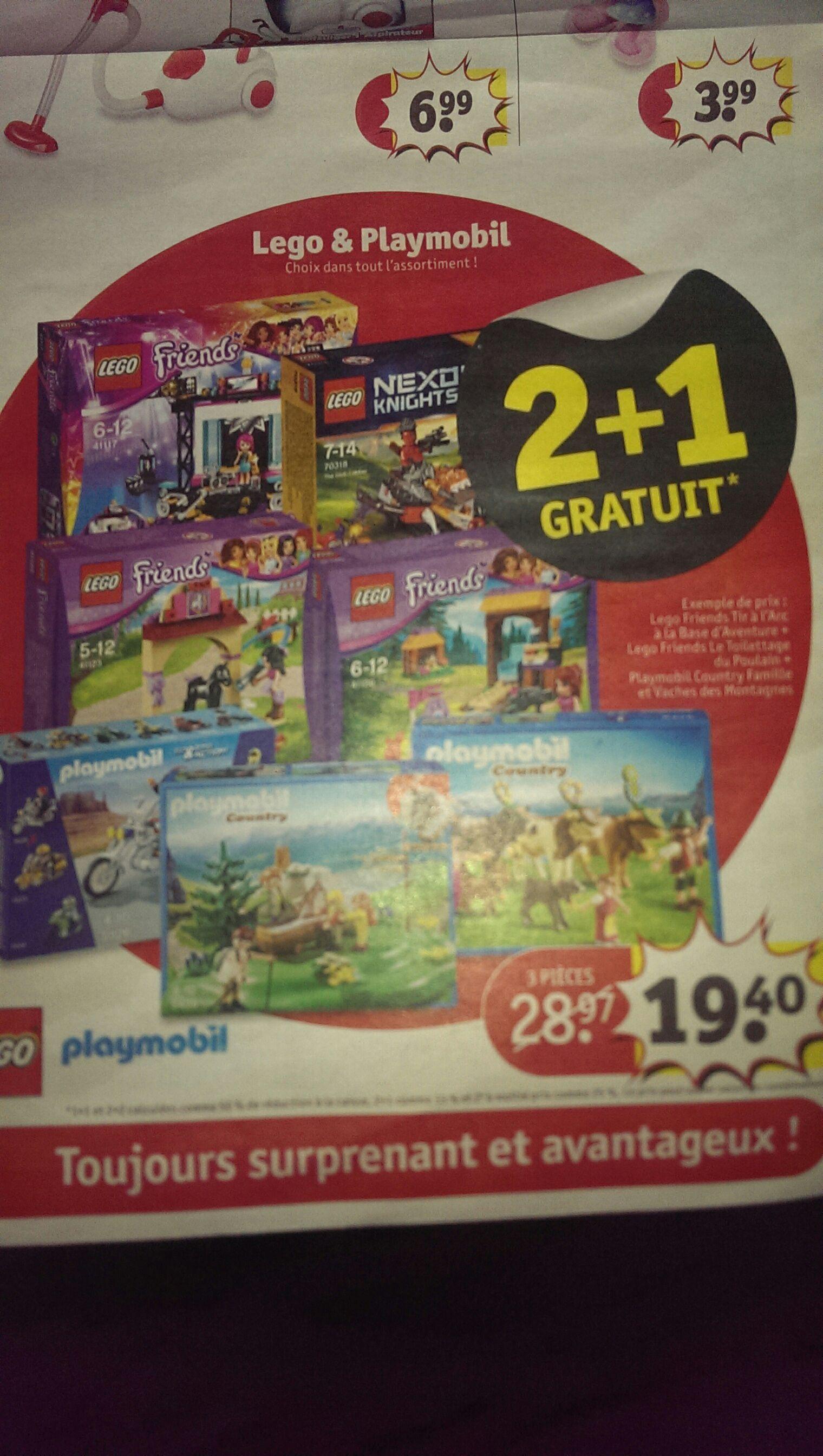 (2+1 gratuit) 3 Jeux Lego et Playmobil au choix parmi une large sélection