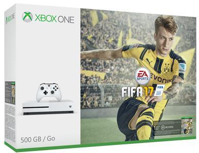 Console Microsoft Xbox One S 500 Go + FIFA 17 + 2ème manette