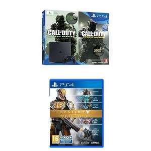 Sélection de packs PS4 en promotion - Ex : Pack Console Sony PS4 Slim 1 To + Call of Duty: Infinite Warfare + Modern Warfare Remastered + Destiny: The Collection ou Overwatch