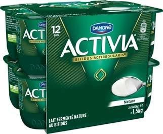 Pack de 12 yaourts Activia nature (via BDR de 1,5€)