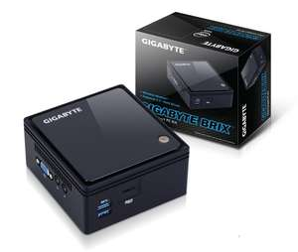 Barebone HTPC Gigabyte GB-BACE-3150 - N3150 1,6GHz, Jusqu'à 8Go de DDR3, 1 HDMI, 4 USB 3.0, Ethernet Gigabit, Wi-Fi / Bluetooth