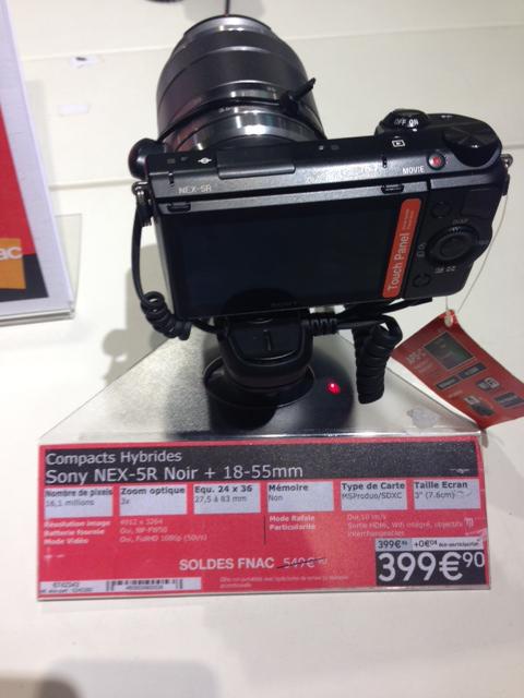 Appareil photo Sony NEX-5R Noir + 18-55mm (avec ODR 50€ ou 100€)