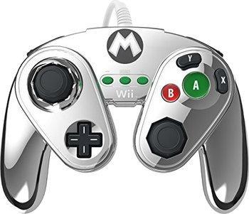 Manette filaire pour Wii U PDP - Mario Metal (argent) ou Métroïd (orange)