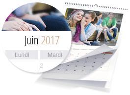 [Nouveaux clients] Un calendrier A4 (de 13 photos) - livraison comprise