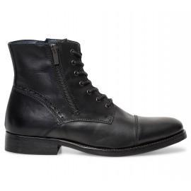 Jusqu'à 50% de réduction sur une sélection de chaussures - Ex : Boots Homme Get U - Cuir, noir