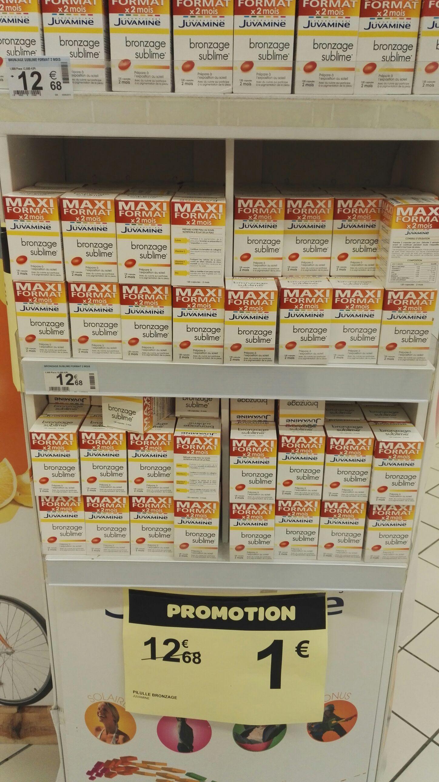 Boite Juvamine Bronzage Sublime Maxi format 2 mois (120 capsules)