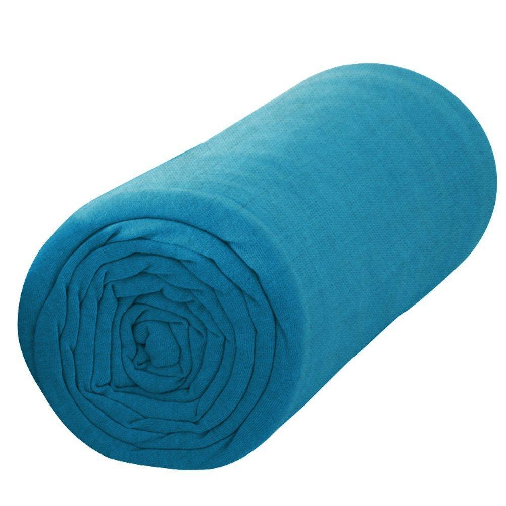 [Premium] Drap housse Today - 140x190 cm, 100% coton, Bleu
