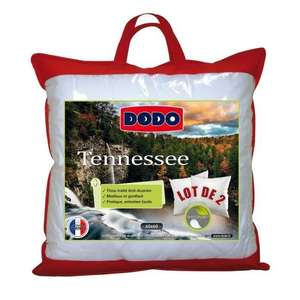Lot de 2 oreillers Dodo Tennesse - Anti-acariens
