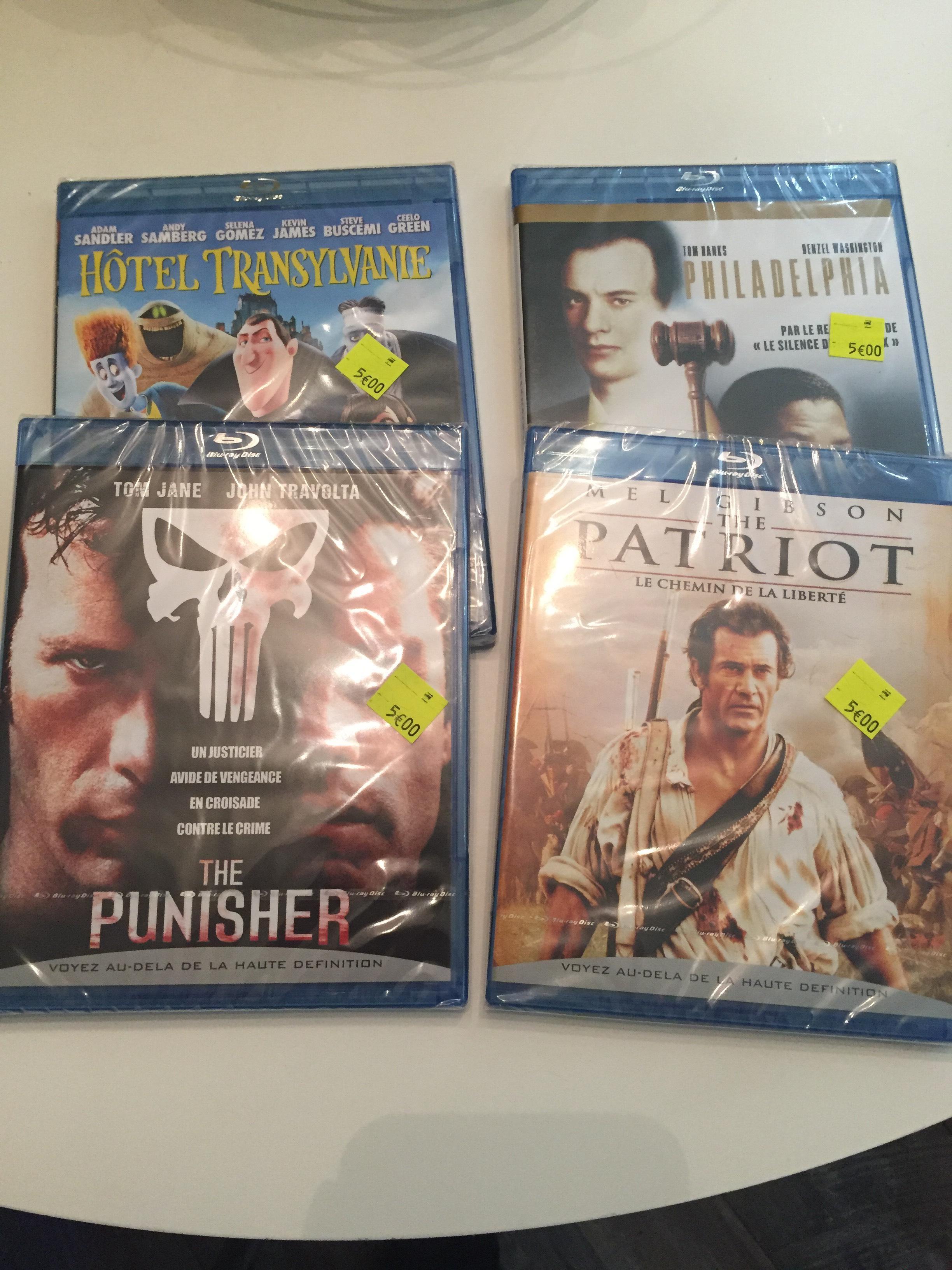 Sélection de Blu Ray à 5€ - Ex : Blu-ray The Punisher