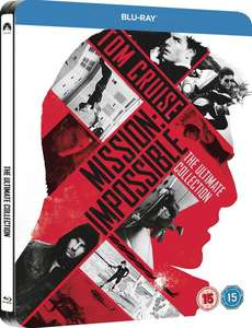 "Intégrale blu-ray ""Mission Impossible : The Ultimate Collection"" (steelbook UK des 5 films avec VF sur chaque film)"