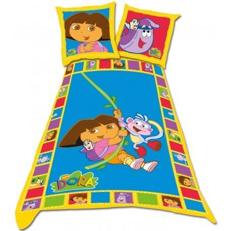 Promotion sur une sélection de housses de couette - Ex: Dora l'exploratrice 140 x 200 cm + 1 taie