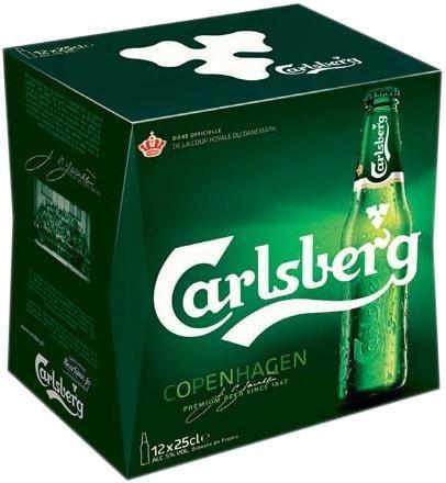 Pack de bières Carlsberg 12 x 25cl (Via BDR 2€)