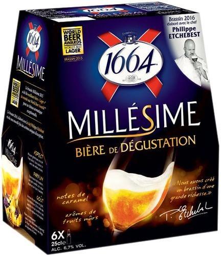 Pack de bières 1664 Millésime (6.7% vol) 6 x 25cl (Via BDR 1.30€)