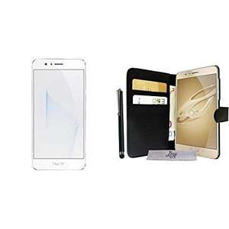 "Pack smartphone 5.2"" Honor 8 (double-SIM, 4 Go de RAM, 32 Go, blanc) + étui / portefeuille BuyUs (via ODR de 30€)"