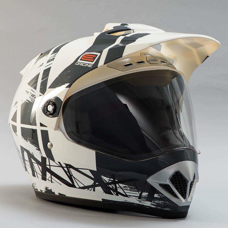 Sélection de casques moto Origine en promotion - Ex : Gladiatore Dakar (avec BLiNC G2, blanc, taille XS)