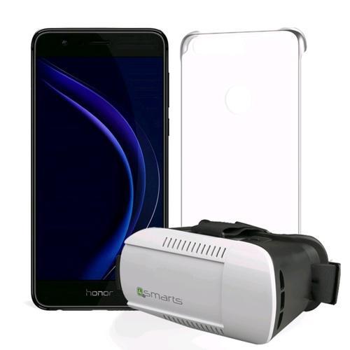 """Pack smartphone 5.2"""" Honor 8 (double-SIM, 4 Go de RAM, 32 Go, différents coloris) + lunettes de réalité virtuelle 4smarts + coque transparente (via ODR de 30€)"""