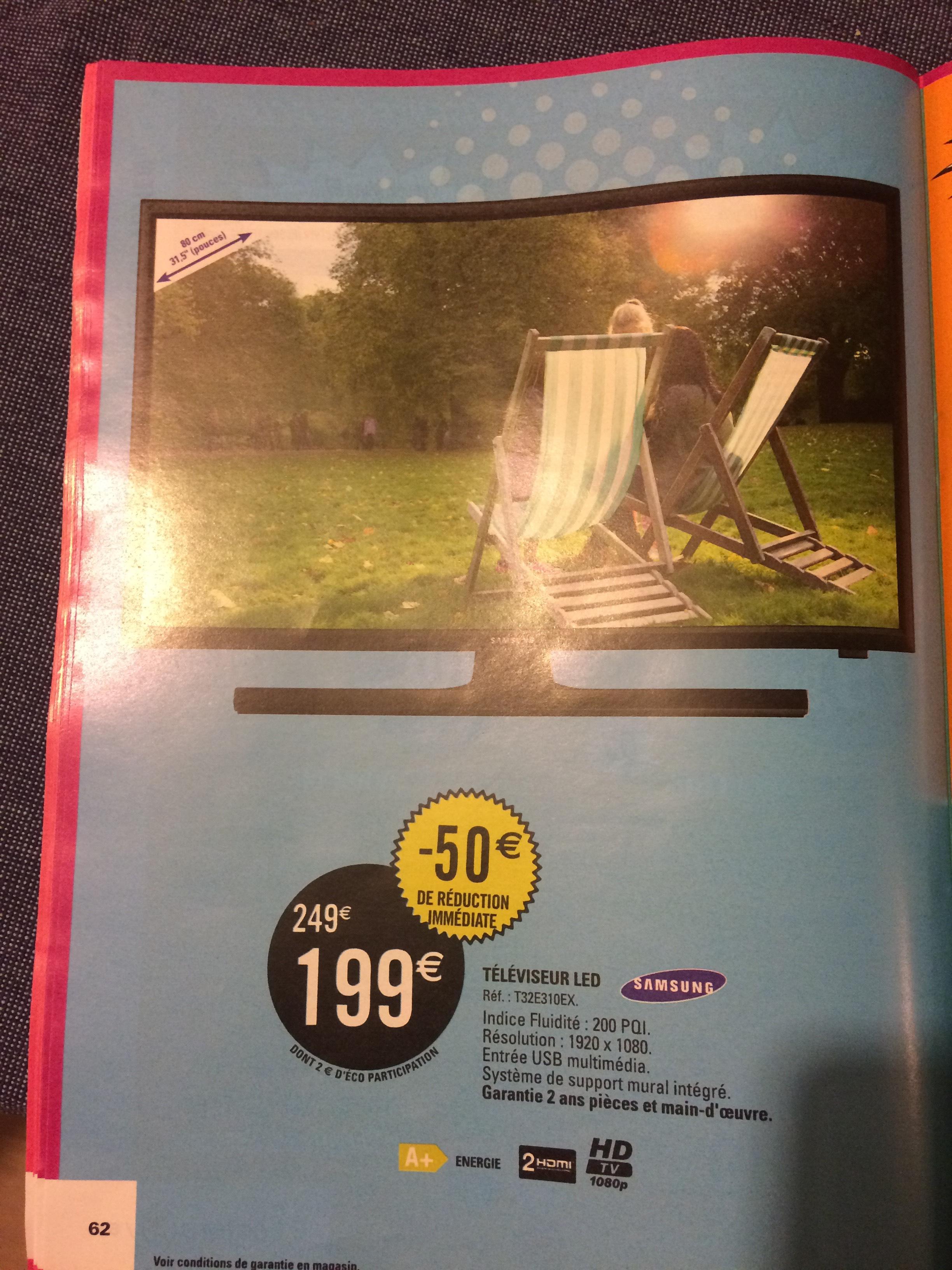 "TV 31.5"" Samsung T32E310EX - Full HD, Led"