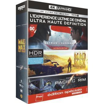 [Adhérents] Coffret Blu-ray 4K (Batman v Superman, Mad Max : Fury Road, Pacific Rim) + 10€ sur le compte fidélité