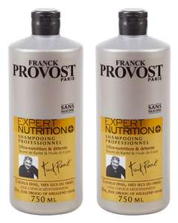 Lot de 2 Shampoings Franck Provost Expert nutrition - 750 mL
