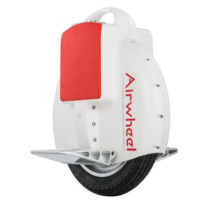 Monoroue Airwheel X3S Blanc et Rouge avec roulettes
