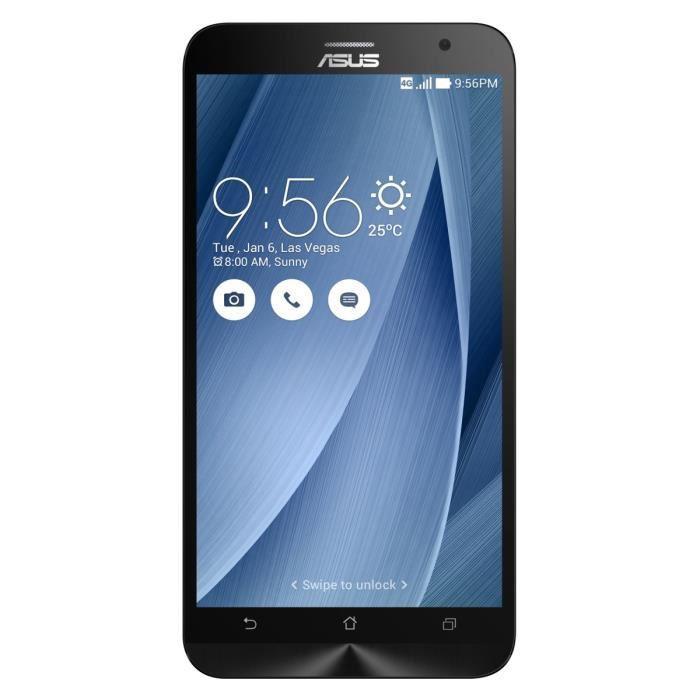 Asus Zenfone 2 ZE551ML Full HD 16Go 4G version 2.3GHz Silver + Toshiba Carte mémoire micro SD 16 Go Noir