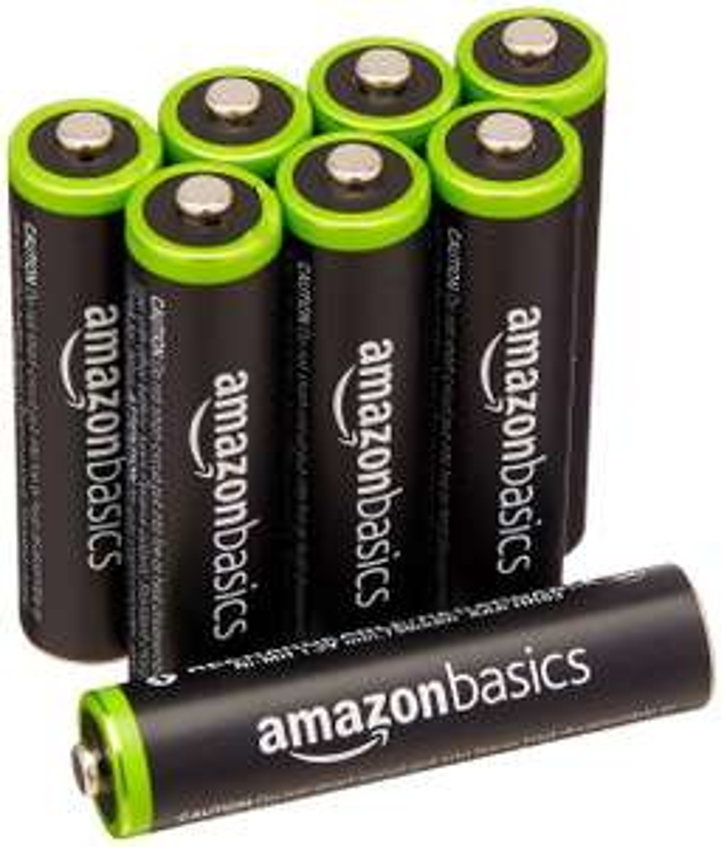 Lot de 8 piles rechargeables Ni-MH AmazonBasics  Type AAA 1000 cycles 800 mAh 1,2 V