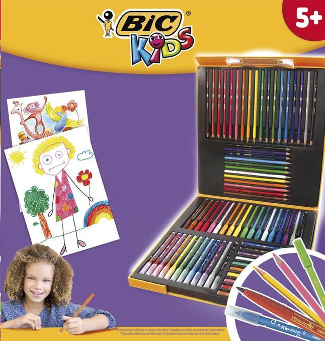 Valise de coloriage Bic Kids - 70 pièces (La valise des couleurs colouring box)