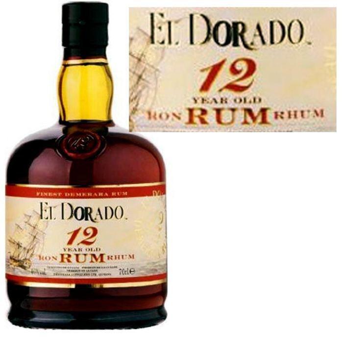 Bouteille de Rhum El Dorado 12 ans (70 cl)