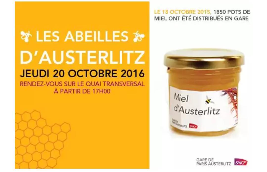[A partir de 17h] Pot de miel d'Austerlitz gratuit