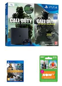 Console Playstation 4 1TO + Infinite Warfare & Modern Warfare + Destiny The Collection + NOW TV 3 mois