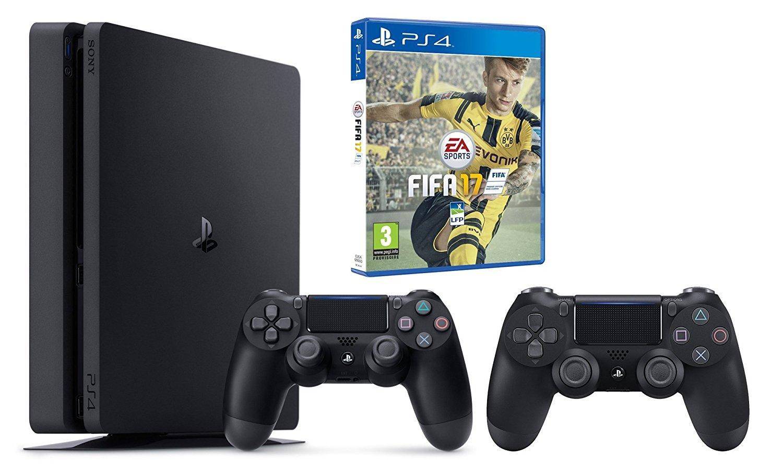 Pack Console Playstation 4 Slim - 500Go + 2ème Manette + FIFA 17