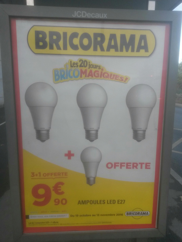 Pack de 4 Ampoules LED E27 (806 lumens)
