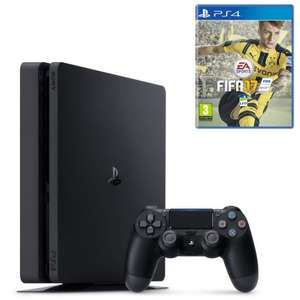 Pack Console PS4 Slim 1 To (2 manettes et FIFA 17)