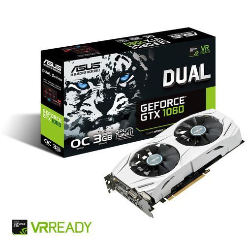 Carte graphique Asus GeForce GTX 1060 Dual OC - 3 Go