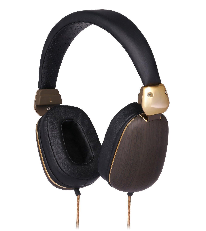 Casque Audio filaire Betron HD1000 - Noir / Marron / Or