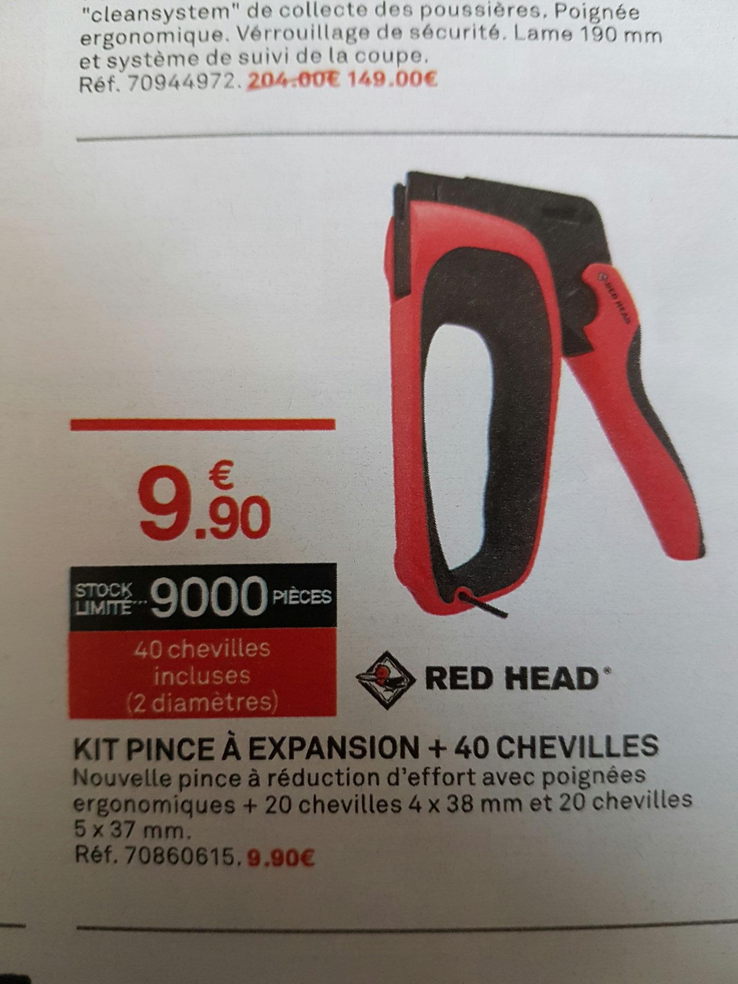 Pince à expansion Red Head + 40 chevilles