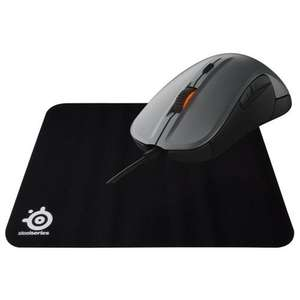 Souris SteelSeries Rival 300 Argent + Tapis SteelSeries QcK offert
