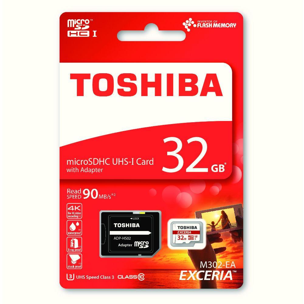 Carte microSDHC Toshiba Exceria U1 Classe 10 - 32 Go + Adaptateur SD