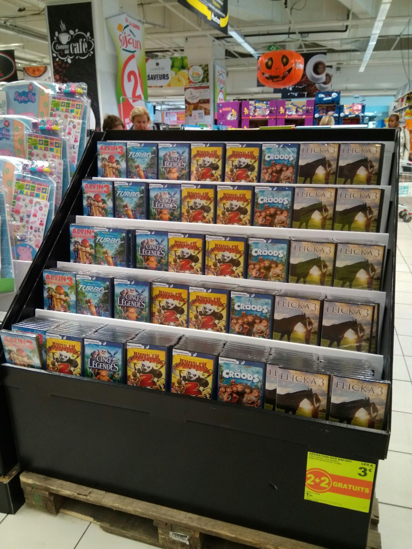 Lot de 4 DVD Dreamworks au choix