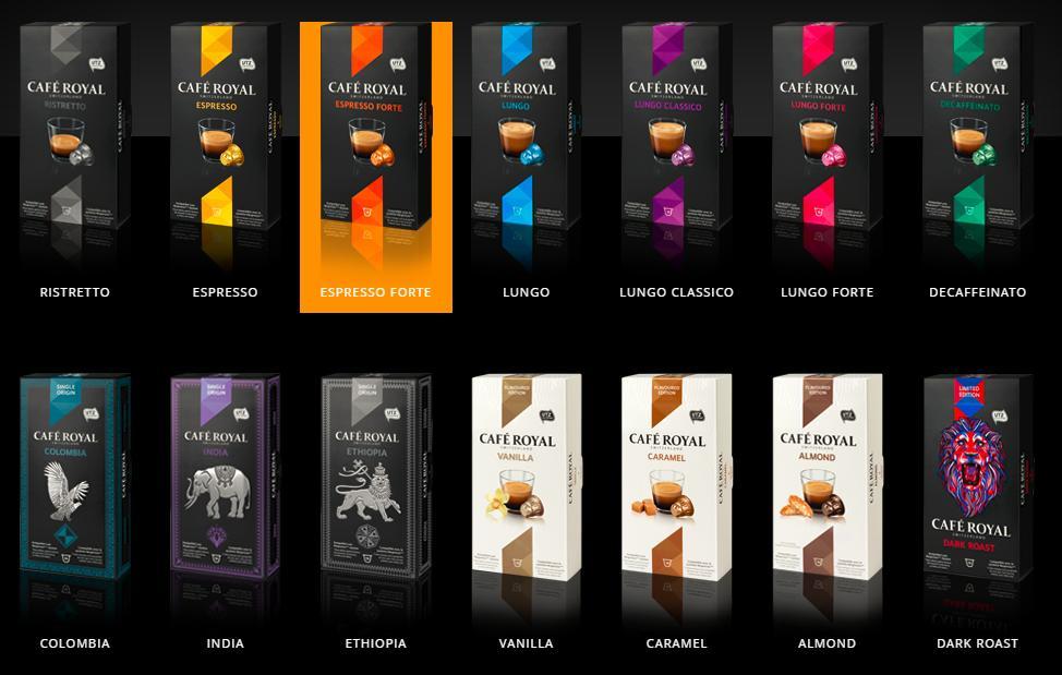 Lot de 60 capsules Café Royal compatibles Nespresso gratuit (via BDR + Shopmium + Coupon-network + Quoty)