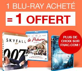 1 Blu-ray acheté = 1 Blu-ray offert