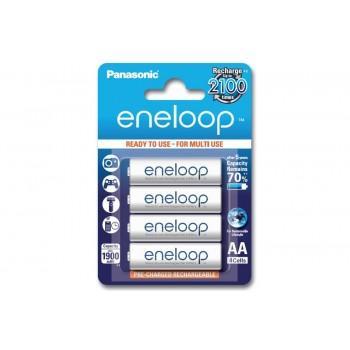 Pack de 4 Piles Rechargeables Panasonic Eneloop  LR6 Ni-Mh AA - 1900mAh