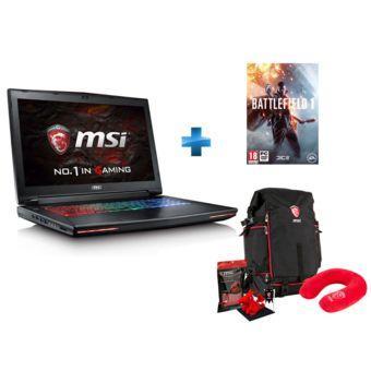 "Pack PC portable 17.3"" full HD MSI Dominator Pro GT72VR 6RE-273XFR (i7-6700HQ, GTX 1070, 8 Go de RAM, 1 To + 256 Go en SSD) + Battlefield 1 + accessoires MSI Dragon"