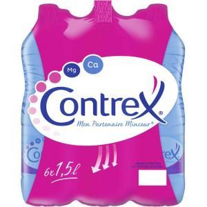 Lot de 2 packs de 6 bouteilles d'eau Contrex - 12x1.5 L