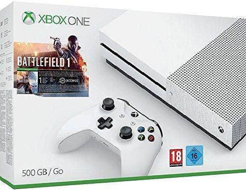 Console Micosoft Xbox One S - 500 Go + Battlefield 1 (Dématérialisé)