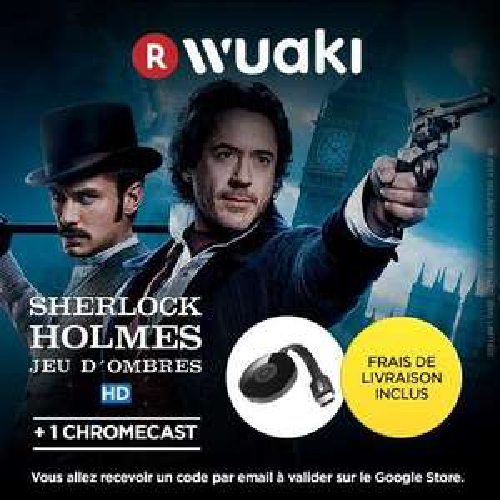 Clé HDMI Chromecast 2 + Film Sherlock Holmes (HD) + 2.5€ en SuperPoints